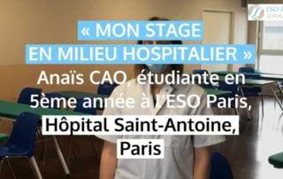 Stage en milieu hospitalier
